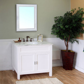 Bellaterra Home Classic White 36 Inch Single Sink Vanity