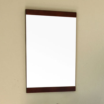 Bellaterra Home Dark Walnut Wood Frame Vertical Mirror