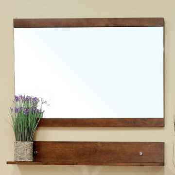 Bellaterra Home Eastern Walnut 43 1/4 Inch Wood Frame Mirror
