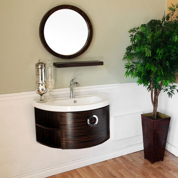 Bellaterra Home Floating Zebrawood Single Sink Vanity