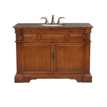 Bellaterra Home Fluted Single Sink Vanity