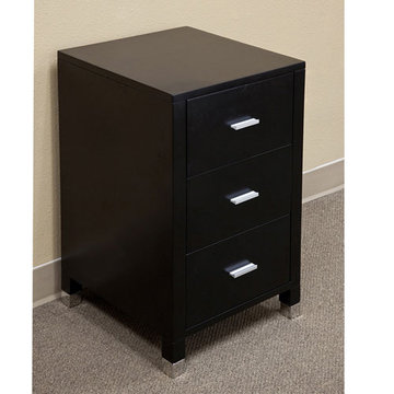 Bellaterra Home Minimalist Black Bridge Side Cabinet