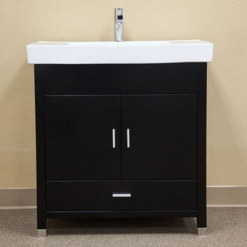Bellaterra Home Minimalist Black Single Sink Vanity