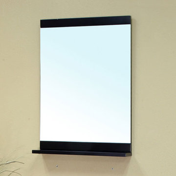 Bellaterra Home Minimalist Black Wood Frame Mirror