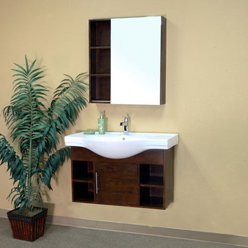Bellaterra Home Modern Cubby Hole Single Sink Vanity