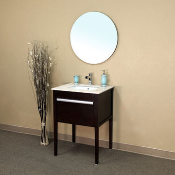 Bellaterra Home Modern Dark Mahogany Single Sink Vanity