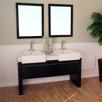 Bellaterra Home Modern Double Sink Vanity