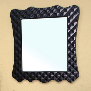 Bellaterra Home Quilted Wood Frame Mirror