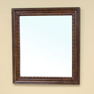 Bellaterra Home Rope Wood Frame Mirror