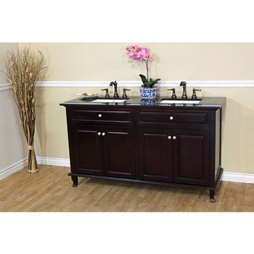 Bellaterra Home Simple Classic Mahogany Double Sink Vanity