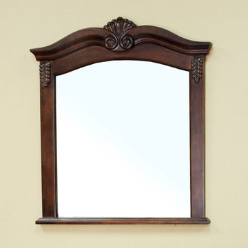 Bellaterra Home Tulip Solid Wood Frame Mirror