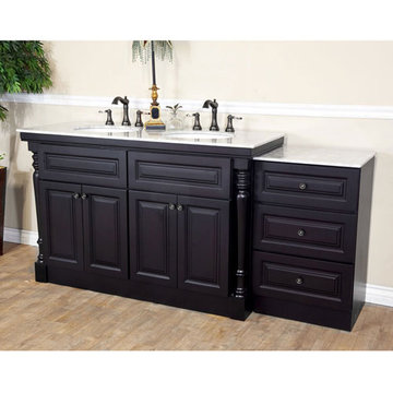 Bellaterra Home Updated Traditional 74 Inch Double Sink Vanity
