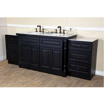 Bellaterra Home Updated Traditional 93 Inch Double Sink Vanity