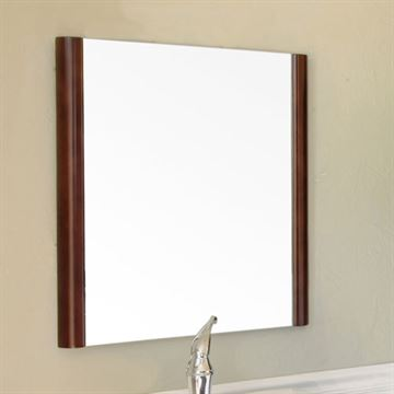 Bellaterra Home Walnut Framed Mirror