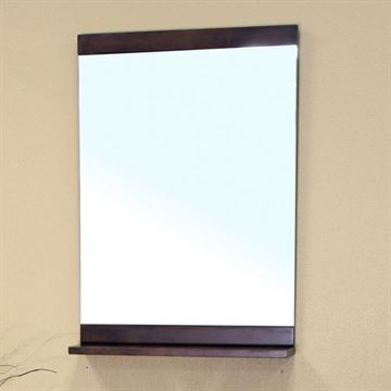 Bellaterra Home Walnut Mirror With Shelf