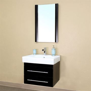 Bellaterra Home Modern Wall Mount Single Sink Vanity