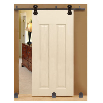 Custom Service Hardware Castle 2 Long Bracket Complete Sliding Door Kit