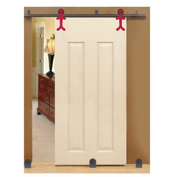 Custom Service Hardware Gingerbread Long Bracket Complete Sliding Door Kit