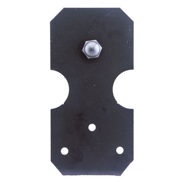 Custom Service Hardware Notched Rectangle Roller Strap
