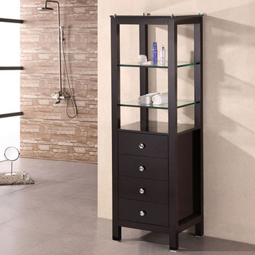Design Element 60 Inch Contemporary Linen Cabinet