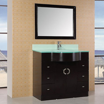 Design Element Aria 40 Inch Single Sink Vanity With Mirror