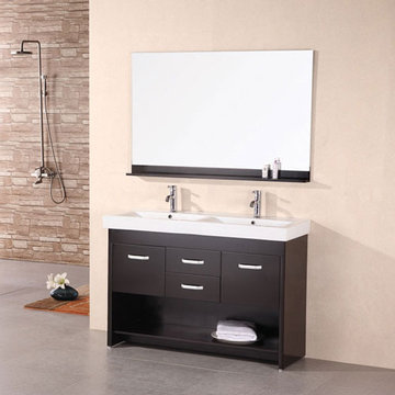 Design Element Citrus 48 Inch Double Sink Vanity Set With Mirror