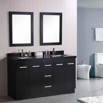 Design Element Cosmo 60 Inch Double Sink Vanity