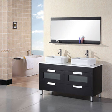 Design Element Francesca Double Sink Vanity Set
