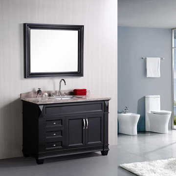 Design Element Hudson 48 Inch Single Sink Vanity Set With Mirror