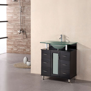 Design Element Huntington 30 Inch Single Drop In Sink Vanity Set