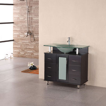 Design Element Huntington 36 Inch Single Drop In Sink Vanity Set