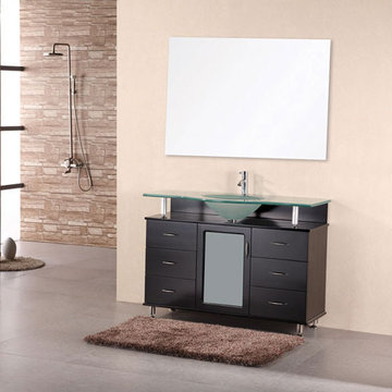Design Element Huntington 48 Inch Single Drop In Sink Vanity Set