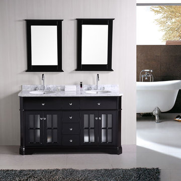 Design Element Imperial 60 Inch Double Sink Vanity With Mirrors