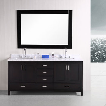 Design Element London 72 Inch Double Sink Vanity