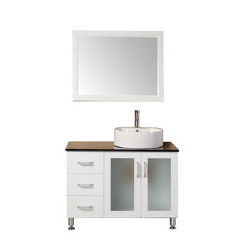 Design Element Malibu 39 Inch Single Sink Vanity Set With Mirror