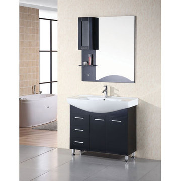 Design Element Sierra 40 Inch Single Drop In Sink Vanity Set With Mirror