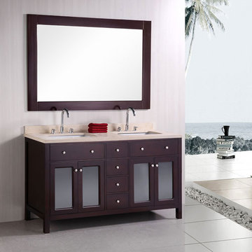 Design Element Venetian 60 Inch Double Sink Vanity