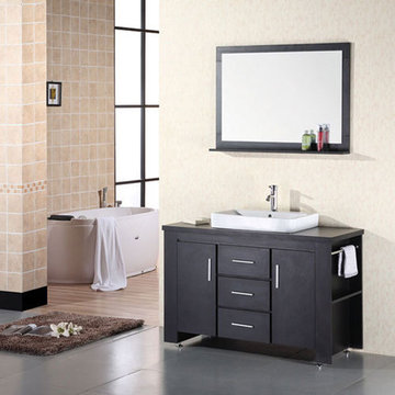 Design Element Washington 48 Inch Single Sink Vanity Set With Mirror