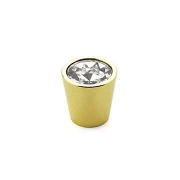 Schaub Fire Cylindrical Crystal Cabinet Knob