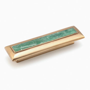 Schaub Symphony Cabinet Pull With Jade Inlay