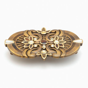 Schaub Symphony Decorative Cabinet Pull With Inlay