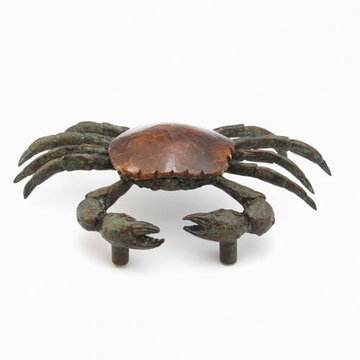 Schaub Symphony Sea Crab Cabinet Pull With Penshell Inlay
