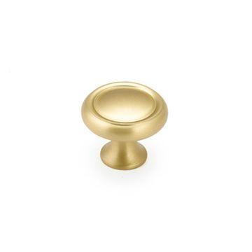 Schaub Traditional Round Button Cabinet Knob