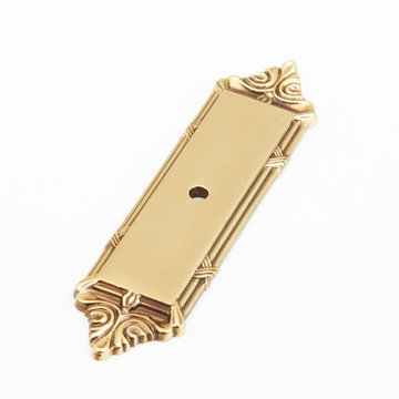 Schaub Versailles Rectangular Backplate for Cabinet Knob