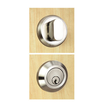 Unison Hardware Round 2 3/8 Inch Single Cylinder Deadbolt