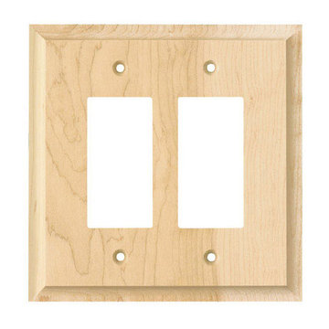 Designs Of Distinction Double Rocker Levington Switchplate