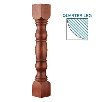 Designs Of Distinction English Country Double Square Quarter Column Corner Post