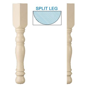 Designs Of Distinction English Country Half Table Leg
