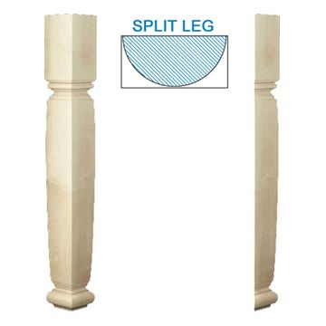 Designs Of Distinction English Estate Half Square Table Leg