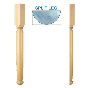 Designs Of Distinction English Estate Plain Half Column Bar Column Island Leg